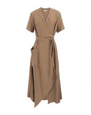 Платье длиной 3/4 CARACTÈRE. Цвет: хаки