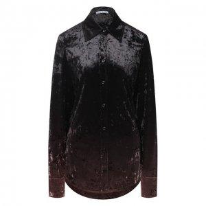 Рубашка Acne Studios. Цвет: коричневый