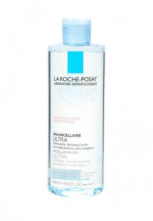 Мицеллярная вода La Roche-Posay ULTRA для чувствительной и склонной к аллергии кожи лица глаз, 400 мл. Цвет: прозрачный