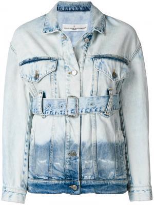 Джинсовая куртка с ремнем Golden Goose Deluxe Brand. Цвет: синий