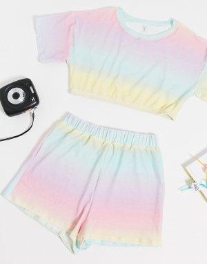 Махровые пляжные шорты пастельной расцветки от комплекта -Мульти ASOS DESIGN