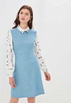 Платье Gregory. Цвет: голубой
