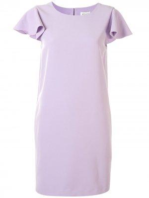 Платье-трапеция с оборками и короткими рукавами Milly. Цвет: фиолетовый
