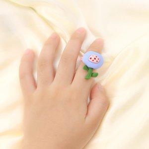 Открытое кольцо с мультипликационным декором для девочек SHEIN. Цвет: многоцветный