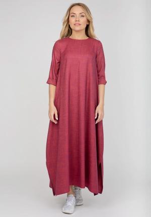 Платье Akimbo. Цвет: бордовый