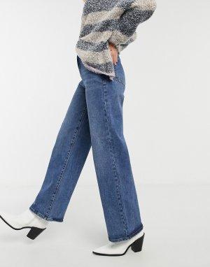 Синие широкие джинсы -Синий Object