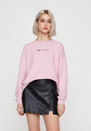 Свитшот Pull&Bear. Цвет: розовый