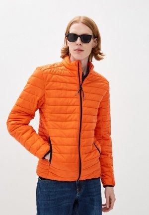 Куртка утепленная Indicode Jeans. Цвет: оранжевый