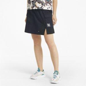 Юбка RE.GEN Woven Womens Skirt PUMA. Цвет: серый