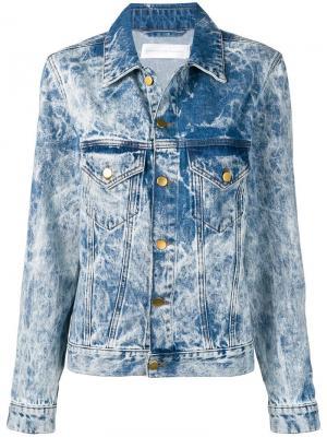 Выбеленная джинсовая куртка Victoria Beckham. Цвет: синий