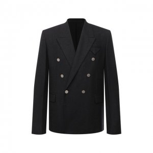 Шерстяной пиджак Bottega Veneta. Цвет: серый