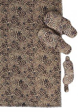 Комплект (одеяло, тапочки и маска для сна) LIU JO. Цвет: бежевый