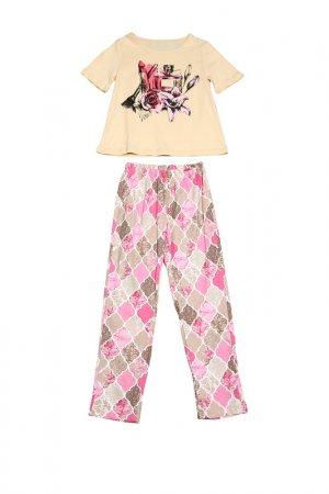 Пижама Tenerezza. Цвет: бежевый
