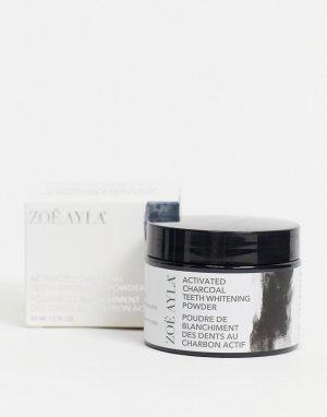 Отбеливающий порошок для зубов с активированным углем -Черный цвет Zoe Ayla