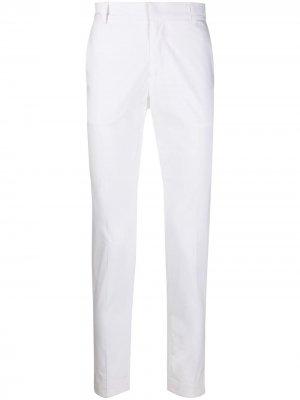 Строгие брюки кроя слим Daniele Alessandrini. Цвет: белый