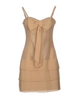 Короткое платье SOOZ by ISABEL C.. Цвет: песочный