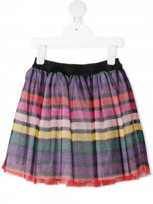 Полосатая юбка с эластичным поясом SONIA RYKIEL ENFANT. Цвет: черный