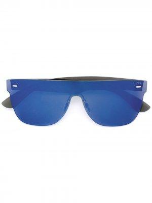 Зеркальные солнцезащитные очки с оправой авиатор Retrosuperfuture. Цвет: синий