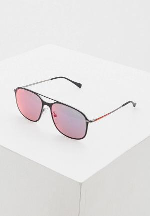 Очки солнцезащитные Prada Linea Rossa 0PS 53TS 1BO9Q1. Цвет: черный