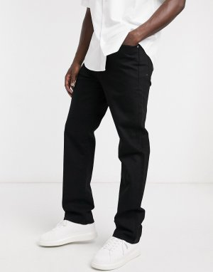 Эластичные джинсы узкого кроя в спортивном стиле без кромки 1040-Черный J Crew