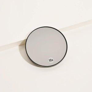 1шт круглое увеличительное зеркало для макияжа SHEIN. Цвет: чёрный