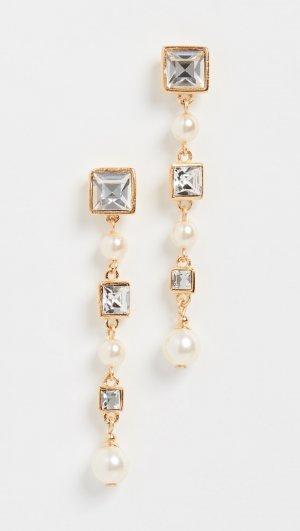 Crystal & Pearl Drop Earrings Ben-Amun