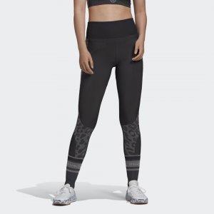 Леггинсы для фитнеса TRUEPURPOSE by Stella McCartney adidas. Цвет: черный