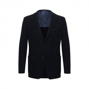 Пиджак из шерсти и кашемира Zilli. Цвет: синий