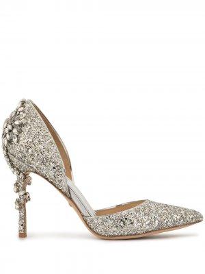 Туфли-лодочки Vogue III Badgley Mischka. Цвет: серебристый