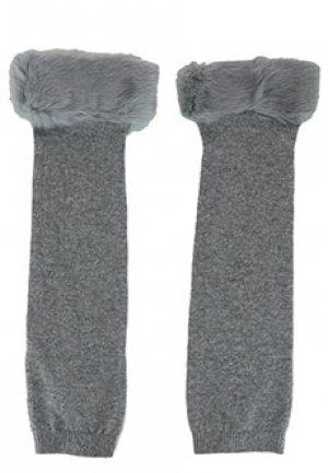 Перчатки VALENTINO RED. Цвет: серый