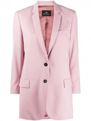 Однобортный блейзер PS Paul Smith. Цвет: розовый