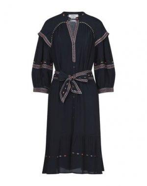Платье до колена BA&SH. Цвет: темно-синий