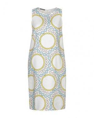 Платье до колена ANDREA TURCHI. Цвет: белый