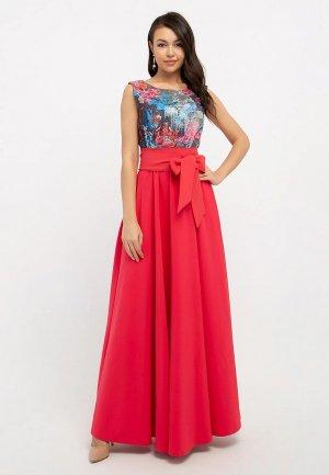 Платье Eva. Цвет: коралловый
