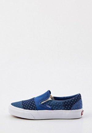 Слипоны Vans UA Classic Slip-On. Цвет: синий