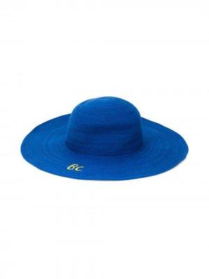 Шляпа с вышитым логотипом Bobo Choses. Цвет: синий