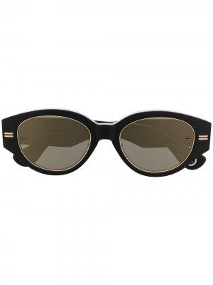 Солнцезащитные очки с камуфляжным принтом A BATHING APE®. Цвет: зеленый