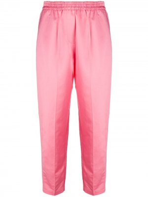 Зауженные брюки с эластичным поясом 8pm. Цвет: розовый