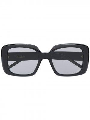Солнцезащитные очки в глянцевой массивной оправе Pomellato Eyewear. Цвет: черный