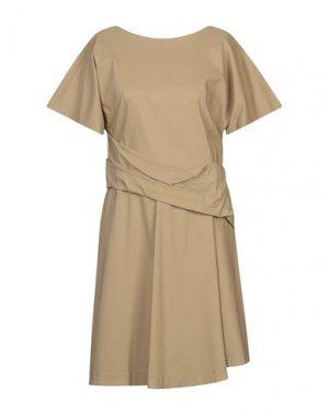 Короткое платье ANNARITA N TWENTY 4H. Цвет: бежевый