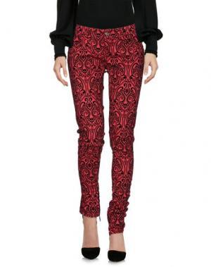 Повседневные брюки BAD SPIRIT. Цвет: красный