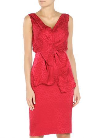 Платье Valentino. Цвет: красный