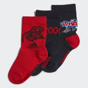 Три пары носков Spider-Man Graphic Performance adidas. Цвет: красный