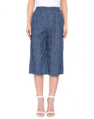 Джинсовые брюки-капри FLY GIRL. Цвет: синий