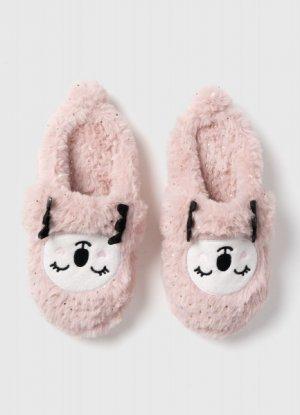 Тапочки для девочек O`Stin. Цвет: пыльно-розовый