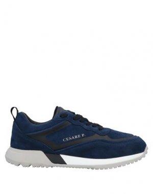 Низкие кеды и кроссовки CESARE PACIOTTI. Цвет: темно-синий