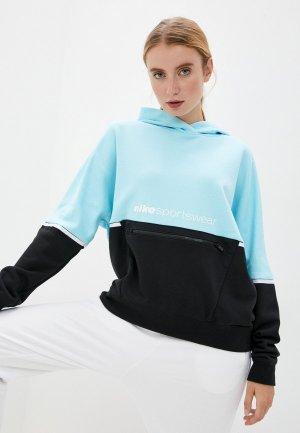 Худи Nike W NSW HOODY FT ARCHIVE RMX. Цвет: голубой