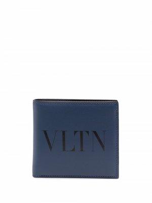 Кошелек с логотипом VLTN Valentino Garavani. Цвет: синий