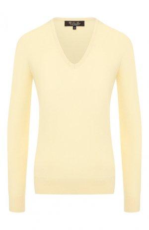 Кашемировый пуловер Loro Piana. Цвет: желтый