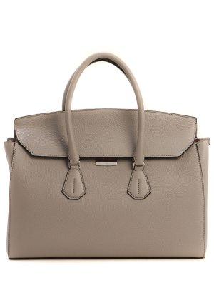 Кожаная сумка BALLY. Цвет: серый